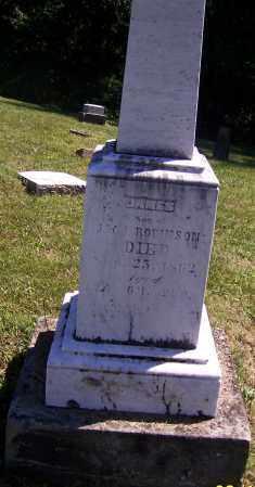 ROBINSON, JAMES - Tuscarawas County, Ohio   JAMES ROBINSON - Ohio Gravestone Photos
