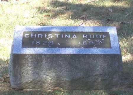 RUOF, CHRISTINA - Tuscarawas County, Ohio | CHRISTINA RUOF - Ohio Gravestone Photos