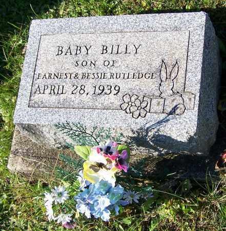 RUTLEDGE, BILLY - Tuscarawas County, Ohio | BILLY RUTLEDGE - Ohio Gravestone Photos