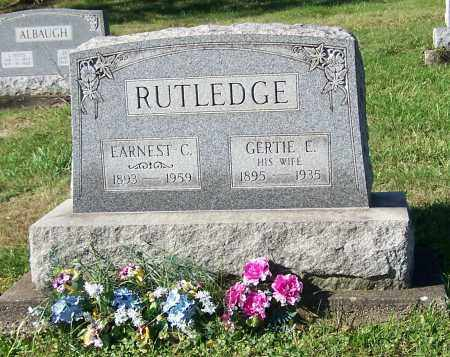 RUTLEDGE, EARNEST C. - Tuscarawas County, Ohio | EARNEST C. RUTLEDGE - Ohio Gravestone Photos