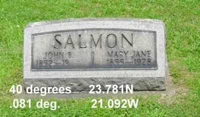 SALMON, JOHN B. - Tuscarawas County, Ohio | JOHN B. SALMON - Ohio Gravestone Photos