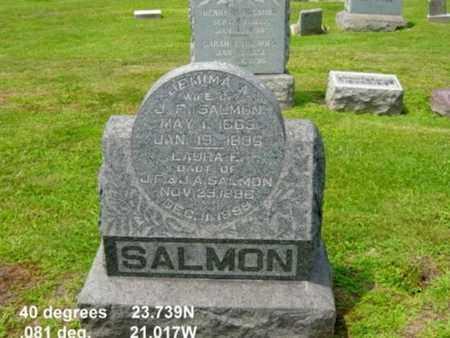 SALMON, JEMIMA A. - Tuscarawas County, Ohio   JEMIMA A. SALMON - Ohio Gravestone Photos