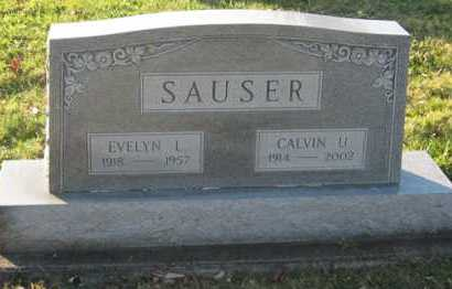 BAKER SAUSER, EVELYN L - Tuscarawas County, Ohio | EVELYN L BAKER SAUSER - Ohio Gravestone Photos