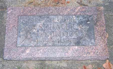 SCHAFER, FLORENCE LORETTA - Tuscarawas County, Ohio | FLORENCE LORETTA SCHAFER - Ohio Gravestone Photos