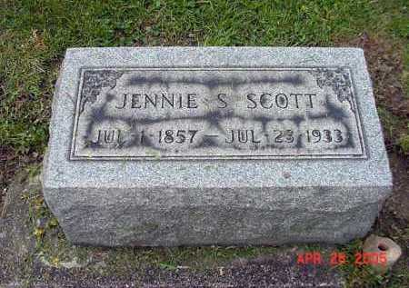 SCOTT, JENNIE - Tuscarawas County, Ohio | JENNIE SCOTT - Ohio Gravestone Photos