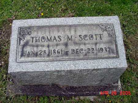 SCOTT, THOMAS M. - Tuscarawas County, Ohio | THOMAS M. SCOTT - Ohio Gravestone Photos