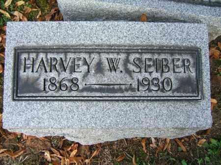 SEIBER, HARVEY W - Tuscarawas County, Ohio   HARVEY W SEIBER - Ohio Gravestone Photos