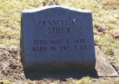 SIBER, FRANCIS M. - Tuscarawas County, Ohio   FRANCIS M. SIBER - Ohio Gravestone Photos