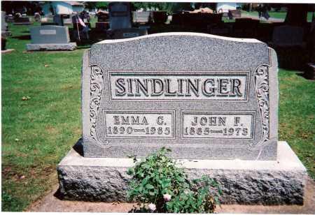 SINDLINGER, EMMA CHRISTINA - Tuscarawas County, Ohio | EMMA CHRISTINA SINDLINGER - Ohio Gravestone Photos
