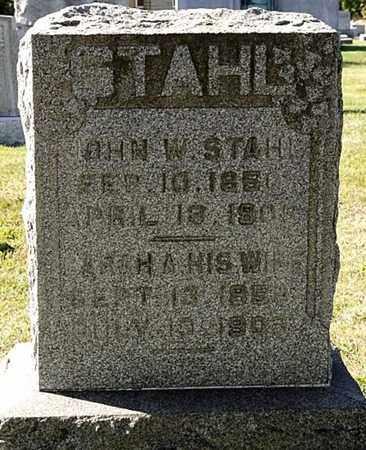 STAHL, JOHN W. - Tuscarawas County, Ohio | JOHN W. STAHL - Ohio Gravestone Photos