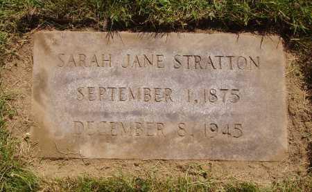 STRATTON, SARAH JANE - Tuscarawas County, Ohio   SARAH JANE STRATTON - Ohio Gravestone Photos
