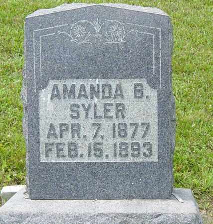 SYLER, AMANDA B. - Tuscarawas County, Ohio | AMANDA B. SYLER - Ohio Gravestone Photos