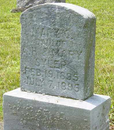 SYLER, MARY G. - Tuscarawas County, Ohio | MARY G. SYLER - Ohio Gravestone Photos