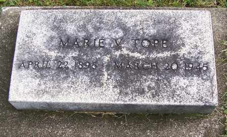 TOPE, MARIE V. - Tuscarawas County, Ohio | MARIE V. TOPE - Ohio Gravestone Photos