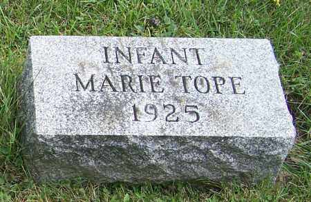 TOPE, MARIE  (INFANT) - Tuscarawas County, Ohio   MARIE  (INFANT) TOPE - Ohio Gravestone Photos