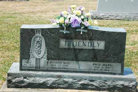 TROENDLY, JOSEPH WOY - Tuscarawas County, Ohio | JOSEPH WOY TROENDLY - Ohio Gravestone Photos