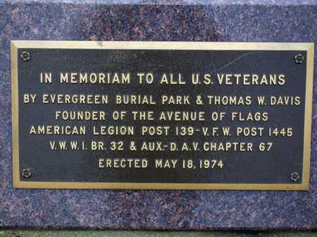 VETERANS MEMORIAM, PLAQUE CLOSEVIEW #2 - Tuscarawas County, Ohio | PLAQUE CLOSEVIEW #2 VETERANS MEMORIAM - Ohio Gravestone Photos