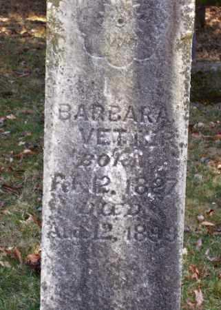 VETTER, BARBARA - CLOSE VIEW - Tuscarawas County, Ohio | BARBARA - CLOSE VIEW VETTER - Ohio Gravestone Photos