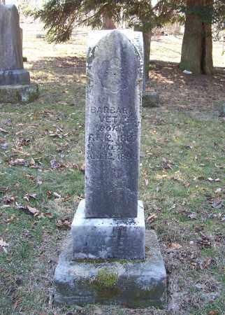 VETTER, BARBARA - MONUMENT - Tuscarawas County, Ohio   BARBARA - MONUMENT VETTER - Ohio Gravestone Photos