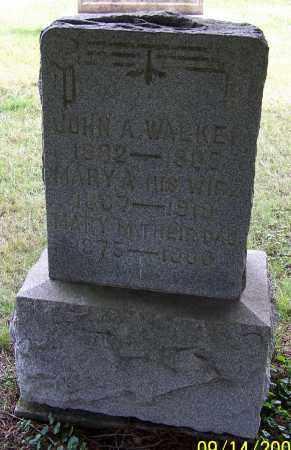 WALKER, MARY A. - Tuscarawas County, Ohio | MARY A. WALKER - Ohio Gravestone Photos