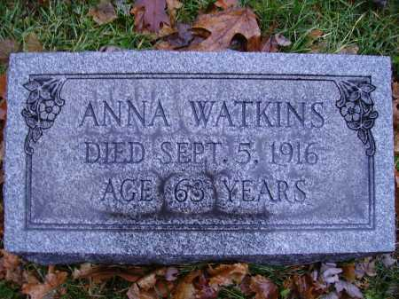 CADADWIN WATKINS, ANNA - Tuscarawas County, Ohio   ANNA CADADWIN WATKINS - Ohio Gravestone Photos