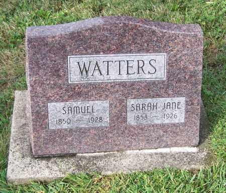 WATTERS, SARAH JANE - Tuscarawas County, Ohio   SARAH JANE WATTERS - Ohio Gravestone Photos
