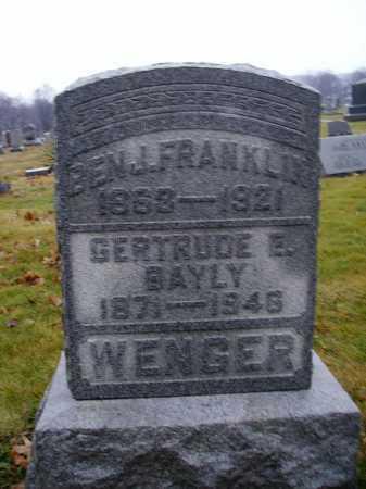 BAYLY WENGER, GERTRUDE E. - Tuscarawas County, Ohio | GERTRUDE E. BAYLY WENGER - Ohio Gravestone Photos