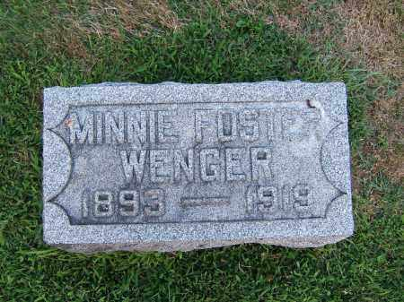 FOSTER WENGER, MINNIE - Tuscarawas County, Ohio | MINNIE FOSTER WENGER - Ohio Gravestone Photos