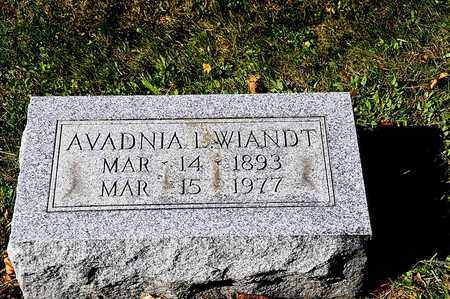 WIANDT, AVADNIA L. - Tuscarawas County, Ohio   AVADNIA L. WIANDT - Ohio Gravestone Photos
