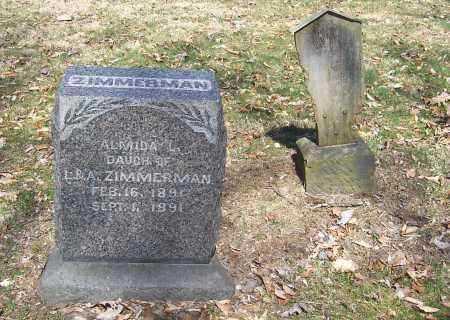 ZIMMERMAN, ALMIDA L. - Tuscarawas County, Ohio | ALMIDA L. ZIMMERMAN - Ohio Gravestone Photos