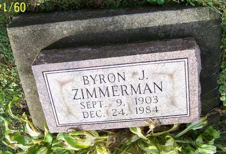 ZIMMERMAN, BYRON J. - Tuscarawas County, Ohio | BYRON J. ZIMMERMAN - Ohio Gravestone Photos