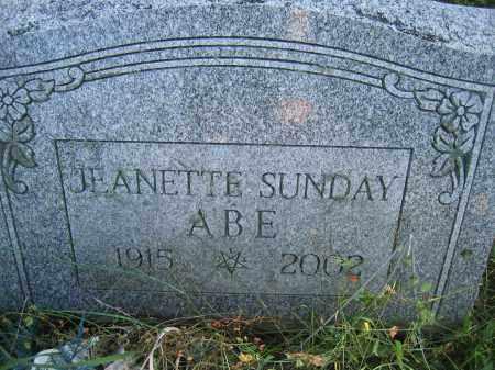 ABE, JEANETTE SUNDAY - Union County, Ohio | JEANETTE SUNDAY ABE - Ohio Gravestone Photos