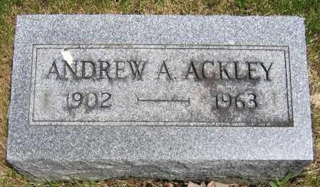 ACKLEY, ANDREW A. - Union County, Ohio | ANDREW A. ACKLEY - Ohio Gravestone Photos
