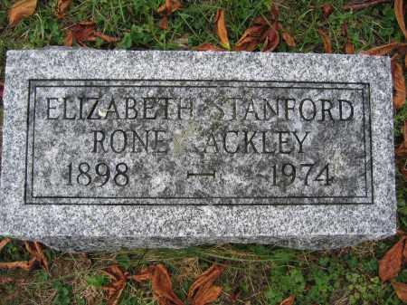 ACKLEY, ELIZABETH STANFORD RONE - Union County, Ohio | ELIZABETH STANFORD RONE ACKLEY - Ohio Gravestone Photos