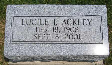 ACKLEY, LUCILE I - Union County, Ohio | LUCILE I ACKLEY - Ohio Gravestone Photos