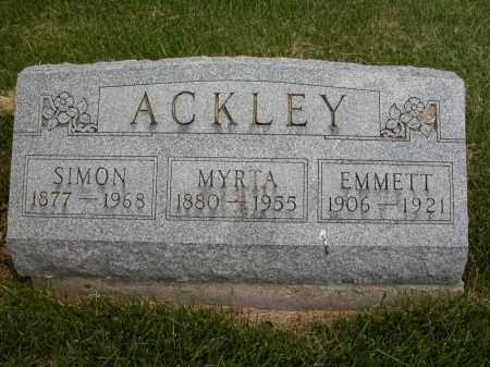 ACKLEY, SIMON - Union County, Ohio | SIMON ACKLEY - Ohio Gravestone Photos