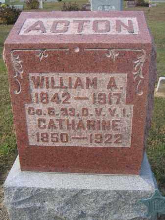 ACTON, WILLIAM A. - Union County, Ohio | WILLIAM A. ACTON - Ohio Gravestone Photos