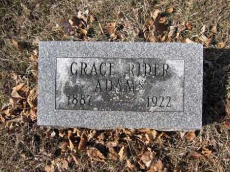ADAMS, GRACE RIDER - Union County, Ohio   GRACE RIDER ADAMS - Ohio Gravestone Photos