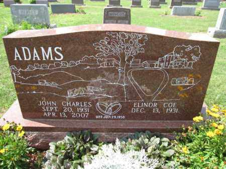 ADAMS, ELINOR COE - Union County, Ohio | ELINOR COE ADAMS - Ohio Gravestone Photos