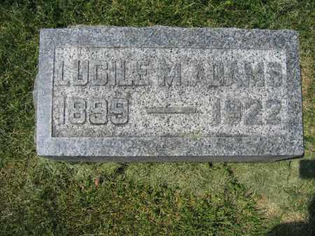 ADAMS, LUCILE M. - Union County, Ohio   LUCILE M. ADAMS - Ohio Gravestone Photos