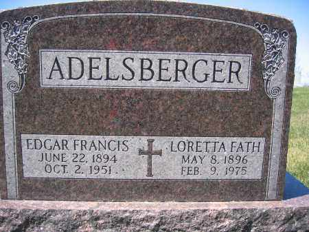 ADELSBERGER, LORETTA FATH - Union County, Ohio | LORETTA FATH ADELSBERGER - Ohio Gravestone Photos
