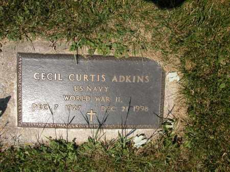 ADKINS, CECIL CURTIS - Union County, Ohio   CECIL CURTIS ADKINS - Ohio Gravestone Photos