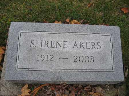 AKERS, S. IRENE - Union County, Ohio | S. IRENE AKERS - Ohio Gravestone Photos