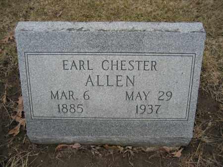 ALLEN, EARL CHESTER - Union County, Ohio   EARL CHESTER ALLEN - Ohio Gravestone Photos