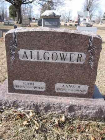 ALLGOWER, ANNA B. - Union County, Ohio | ANNA B. ALLGOWER - Ohio Gravestone Photos