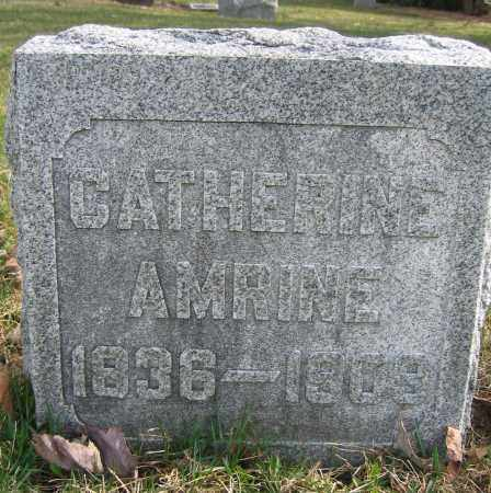 AMRINE, CATHERINE - Union County, Ohio | CATHERINE AMRINE - Ohio Gravestone Photos