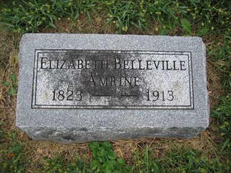 AMRINE, ELIZABETH BELLEVILLE - Union County, Ohio   ELIZABETH BELLEVILLE AMRINE - Ohio Gravestone Photos