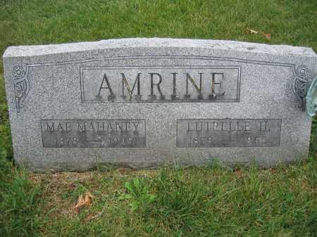 AMRINE, LUTRELLE H. - Union County, Ohio | LUTRELLE H. AMRINE - Ohio Gravestone Photos