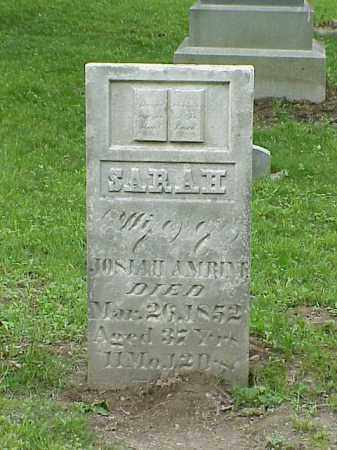 AMRINE, SARAH - Union County, Ohio   SARAH AMRINE - Ohio Gravestone Photos