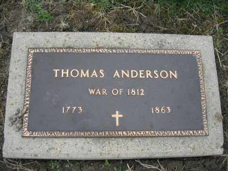 ANDERSON, THOMAS - Union County, Ohio   THOMAS ANDERSON - Ohio Gravestone Photos